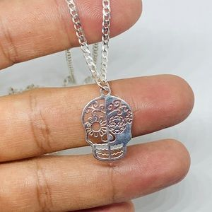 Jewelry - Sterling Silver 925 Necklace Pendant Day of Dead